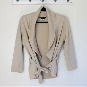 BCBGMAXAZRIA 100% Soft Merino Wool Wrap Cardigan